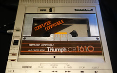 computer compatible cassette player 2 (smallritual) Tags: london 1981 1980s sinclair zx81 royalfestivalhall cassetteplayer southbankcentre cassettedrive centreforcomputinghistory webwewantfestival