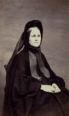 """Grandmother """"Bomby"""" (Sarah Huff), Unmarked Albumen Carte de Visite, Circa 1862 (lisby1) Tags: portrait loss death mourning 1800s victorian funeral edwardian grief 1900s earlyphotography annlongmoreetheridgecollection"""