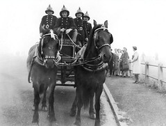 National & Auxiliary Fire Service (Dundee City Archives) Tags: world old two horse fire war photos dundee angus engine national ii area ww2 second service firemen drawn firefighters tender afs brigade auxiliary