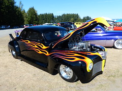 'Mean and Nasty' 46 Plymouth (bballchico) Tags: 1946 plymouth kustom custom hemi supercharged arlingtoncarshow flames meanandnasty arlingtondragstripreunionandcarshow 2014 206 washingtonstate arlingtonwashington