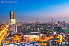 vl_03703 (Hanoi's Panorama & Skyline Gallery) Tags: sunset sky panorama skyline architecture skyscraper canon asian asia skylines vietnam architect hanoi asean appartment lotte vitnam hni skyscrapercity caoc