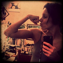 Stupid shot after the workout (difsus) Tags: selfportrait girl arm squareformat workout biceps selfie