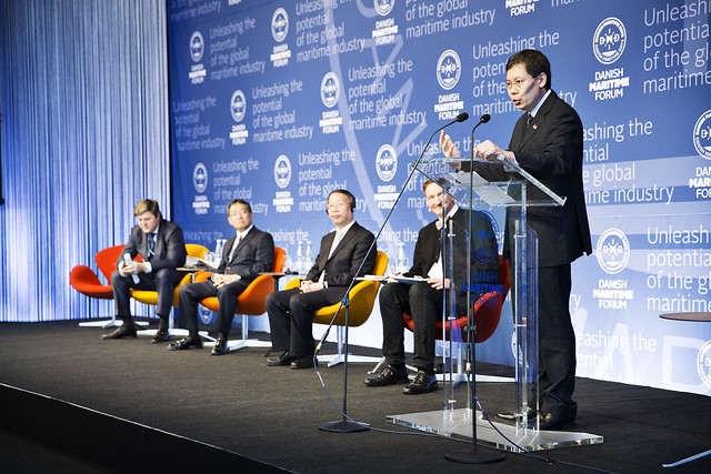 Danish Maritime Forum,  Su Bo, Vice-Minister of Industry and Information Technology, China; Hiroshi Muto, Vice-Minister for Transport, Tourism and International Affairs, Japan; Victor Olersky, Deputy Minister of Transport, Russia; Tuck Yew Lui, Minister o