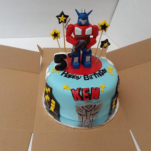 Cake Ulang Tahun 3d Transformers Cake Ulangtahun Birthday
