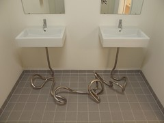 Plumbing (Hammerhead27) Tags: art copenhagen sink plumbing pipe marriage installation smk elmgrendragset