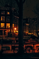 Midnight in Amsterdam (Through the lens of a local) Tags: city trees houses winter holland tree netherlands amsterdam bike bicycle night buildings dark boot lights evening boat canal cozy bomen warm europa europe nacht nederland atmosphere boom lanterns typical avond cosy stad gezellig fiets donker lichtjes gracht hek huizen typisch verlichting woonboot grachtenpanden sfeervol knus streetlanterns lantaarns straatverlichting