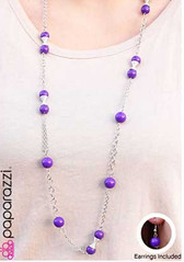 Glimpse of Malibu Purple Necklace K1 P2410-5