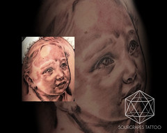 Child Portrait Black and Grey Tattoo (13.22 Tattoo Studio) Tags: old uk portrait baby moon west flower colour london eye art clock geometric church girl rose closeup tattoo illustration angel skeleton religious foot japanese skull photo artist ship child hummingbird hand veil heart arm mechanical lotus geometry buddha watch fine feather bigben bio superman line xmen batman pharaoh rib script custom handprint sleeve logos compass gentleman pac dreamcatcher realism chicano coverup realistic triforce sourgrapes eygptian blackandgrey s0urgrapes