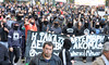 Activists of the black bloc leading a protest march on Panepistimiou Street in Athens (paul.katzenberger) Tags: protest athens greece demonstrators blackbloc grigoropoulos eurocrisis