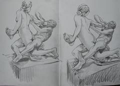 Ashmolean Museum (Martin Beek) Tags: sculpture pencil observation roman drawing plaster cast classical hermaphrodite graphite satyr ashmoleanmuseum 8b plastercastashmoleanmuseum