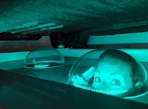 Submerged beneath a Car