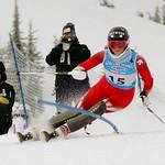 Stefanie Fleckenstein takes gold in a tie with teammate Alix Wells at Schweitzer FIS Can Am slalom PHOTO CREDIT: Derek Trussler