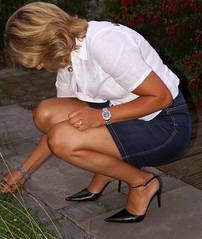 MyLeggyLady (MyLeggyLady) Tags: secretary sexy thighs slingbacks cfm miniskirt stiletto legs heels