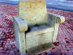 Chair sculpture in Preston (Tony Worrall Foto) Tags: county uk england art stone artwork chair stream tour open place northwest seat country north entrance visit location supermarket lancashire made area preston publicart northern update sculptures morrisons feature attraction deepd