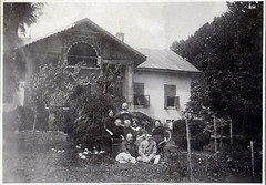 Family in the backyard (elinor04 thanks for 24,000,000+ views!) Tags: family portrait building men fashion vintage garden outdoors photo backyard women hungary shot outdoor group villa mansion 1900s kria stylecottage