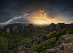 Sunset Meteora (Krasi St Matarov) Tags: travel sunset nature clouds landscape nikon rocks photographer outdoor greece workshop meteora kalambaka phototour