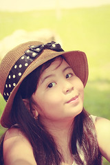 VHIE-0176 (EnJANEer) Tags: summer cute girl smile hat vintage hair children model long photoshoot princess little outdoor innocent young attitude malaysia theme pouty