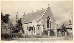 Murray Views No 4 St. Lukes Shurch of England, Junee, NSW (Daddys 'lil Girl) Tags: postcard australia nsw historical 1949 wagga albury junee riverina