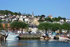 Trouville et  lglise  Notre-Dame des Victoires  (florence.V) Tags: mer france port 14 bateaux normandie calvados manche trouvillesurmer