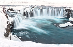 Goafoss (Ray Jennings AU) Tags: longexposure winter panorama snow ice 50mm frozen waterfall iceland icicles schneider goafoss nikond810