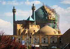 Shah Mosque under construction (Martin Tsvetkov) Tags: travel architecture photography lights iran perspective mosque wallpapers isfahan shah