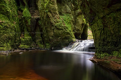 Devil's Pulpit, Finnich Glen (Rossco156433) Tags: nature water river landscape outdoors scotland waterfall glen hidden burn stirlingshire renfrewshire killearn devilspulpit finnichglen