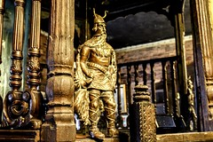 Echoes of the dead past.    Mongolian warrior statue somewhere in old Lahore. (Sherazdionysus) Tags: travel art history statue architecture antique culture lahore oldcity mongol oldlahore