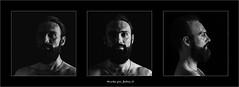 triptyque Nicolas Malbon (ju.lepine) Tags: portrait nb triptyque barbe barbus