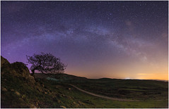 Roads, Tree and Milkway (hampshireview) Tags: canon landscape nightscape lakes lakedistrict may aurora milkyway