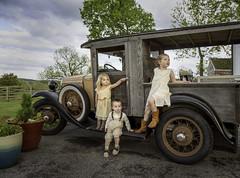 Three children (crabsandbeer (Kevin Moore)) Tags: wedding cute love childhood kids rural truck vintage children adams antique maryland frederick walkersoverlook