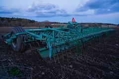 Argi-culture (paulius.malinovskis) Tags: sunset colour beautiful field spring scenery sweden sony magenta explore uppsala agriculture scandinavia cultivator cultivation haga uppland