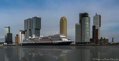 Koningsdam in Rotterdam panorama (PvRFotografie) Tags: panorama water photoshop river boot boat rotterdam ship digitalart kopvanzuid schip rivier rotterdamzuid koningsdam fujix20 fujifinepixx20