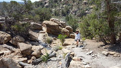 Hiking around in Little Ruin Canyon in Hovenweep NM