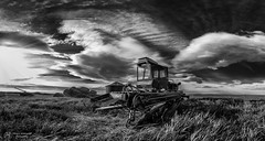 Abandoned (Terry L Richmond) Tags: bw canada field clouds blackwhite farm farming dramatic alberta tones canon1740 canon6d versatilehydrostatic400