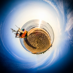 Ahlbeck Beach (pure:passion:photography) Tags: sunset panorama beach nature strand sunrise ball landscape boot pier boat meer ship sundown natur balticsea landschaft ostsee schiff ausblick fischerboot ahlbeck kugelpanorama