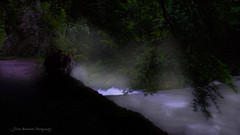 Entre brume et pluie (Julien Bukowski) Tags: mountain water fog montagne river landscape switzerland spring eau europe suisse rivire che paysage cascade printemps brouillard neuchatel ch nightpicture poselongue photodenuit boudry gorgesdelareuse