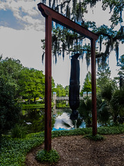 Sculpture garden-8 (uxbobham) Tags: sculpture art neworleans sculpturegarden hangingman