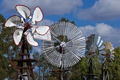 Succession of windmills (outback traveller) Tags: historic seq