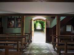 Spiritual World (Feldore) Tags: door old ireland light irish church sunshine museum out catholic open looking cross folk religion peaceful olympus greenery serene northern mchugh stations em1 cultra spiritually 1240mm feldore
