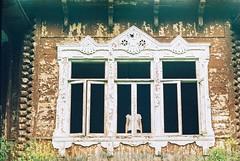 Ghost Story (My . December) Tags: film vintage 35mm kodak gold 200 rokkor58mm14 m mydecember nikolozjorjikashvili photography portrait house abandoned view window woodenhouse georgia