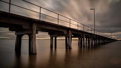 Port Broughton pier (RWYoung Images) Tags: longexposure sunset sea water canon bay pier gulf australia wharf slowshutter southaustralia portbroughton rwyoung 5d3 quantumentaglement