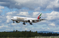 A6-EBV (3) (Christoffer Andersen) Tags: oslo airplane aviation emirates ek boeing osl b777 b777300 b777300er passengerplanes osloairportgardermoen