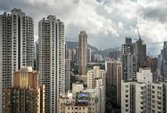 Hong Kong Buildings (Camera_Shy.) Tags: tower rooftop skyline high skyscrapers hong kong blocks rise