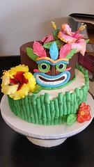 Tiki Birthday Fun (Sticky Fingers Bakery Specialty Cakes) Tags: birthday cake vegan chocolate bamboo hibiscus vanilla tiki fondant buttercream gumpaste sugarflowers