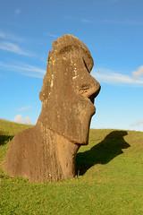 Pondering (jackkostelec) Tags: chile sculpture stone moai easterisland quarry rapanui