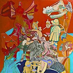 Self-Portrait in Red (1962) - Paula Rego (1935) (pedrosimoes7) Tags: selfportrait portugal museum museu lisbon muse mnac paularego contemporaryartsociety artgalleryandmuseums museunacionaldeartecontempornea ecoledesbeauxarts