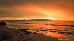 2016 - Landscape - Sunset - Largs - 02_24_06.jpg (stevenlazar) Tags: ocean sunset beach clouds waves jetty australia adelaide southaustralia largs 2016