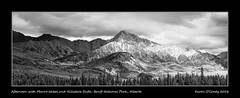 Afternoon with Mount Ishbel and Hillsdale Slide, Banff National Park, Alberta (kgogrady) Tags: infrared landscape summer canada mtishbel mountains mountishbel blackandwhite banffnationalpark canadianlandscapes blackwhite canadianrockies d80 dx cans2s afternoon 2016 albertalandscapes bw alberta ab canadianmountains canadiannationalparks canadianrockieslanscape clouds hillsdaleslide panorama parkscanada westerncanada nopeople nikon peaks nikonafs18200mmgvr noone pano nikkor photosofbanffnationalpark picturesofbanffnationalpark