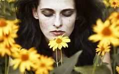 Selina (alexandra_bochkareva) Tags: flowers face female hair fire head fairy freckles feelings helios freckled