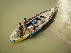 . (S_Artur_M) Tags: india indien travel varanasi benares ganges boat panasonic lumix tz10 fishingboat fishermen uttarpradesh reise